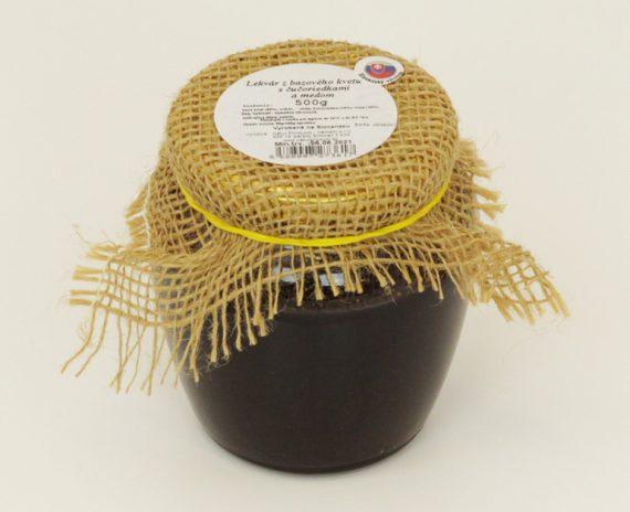 lekvar-z-bazoveho-kvetu-s-čučoriedkami-a-medom